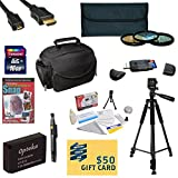 47th Street Photo Best Value Accessory Kit For the Canon M, Rebel SL1 - Kit Includes 16GB High-Speed SDHC Card + Card Reader + Extra Battery + Travel Charger + 58MM 3 Piece Pro Filter Kit (UV, CPL, FLD Lens) + HDMI Cable + Padded Gadget Bag + Professional