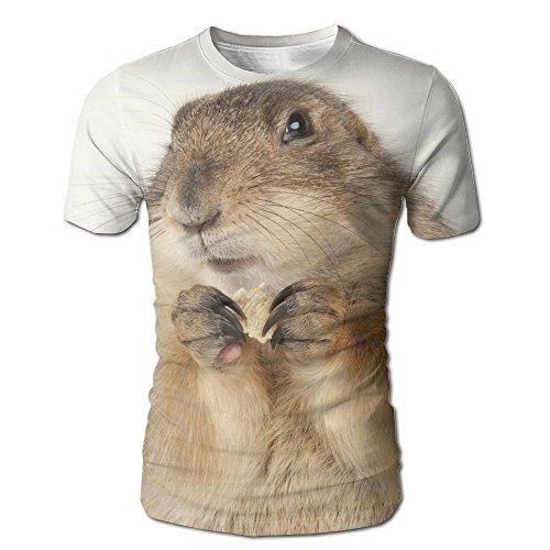 FASHION N WORLD Mens Lovely Prairie Dog Cozy T-Shirt Short Sleeve Travel Pullover