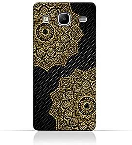 AMC Design Vintage Mandala 1201 Printed Case for Samsung Galaxy Mega 5.8 I9150 - Black & Yellow