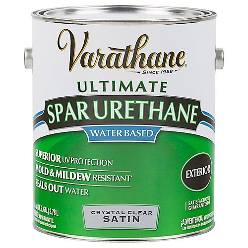 Exterior Polyurethane - RUST-OLEUM 250231 Gallon Outdoor Clear Satin Finish