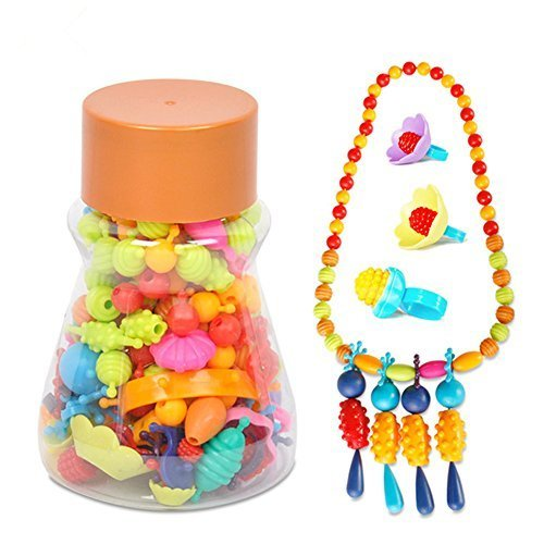 YOOMUN 160pcs Pop Beads Children Cordless Snap Together Toy