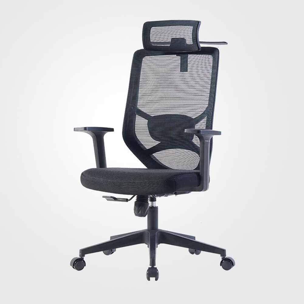 JXXDDQ svängbar stol ergonomiskt nättyg hem modern minimalistisk datorstol (färg: svart) Svart