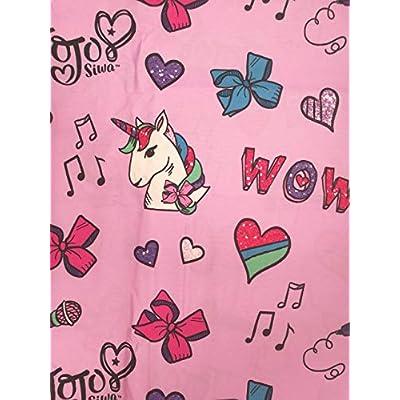 JoJo Siwa Feel The Music Girls Twin Sheet Set 3 Piece Microfiber: Home & Kitchen