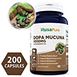 Pure Mucuna Pruriens 1000mg 200caps 15% L-Dopa (NON-GMO & Gluten Free) Made in USA, Highest Potency on the Market, Promotes Dopamine, Testosterone & Mood – 100% MONEY BACK GUARANTEE! Review