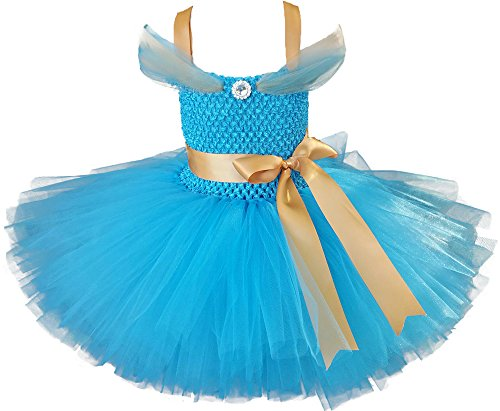 (Tutu Dreams Princess Jasmine Dress for Girls (Jasmine,)