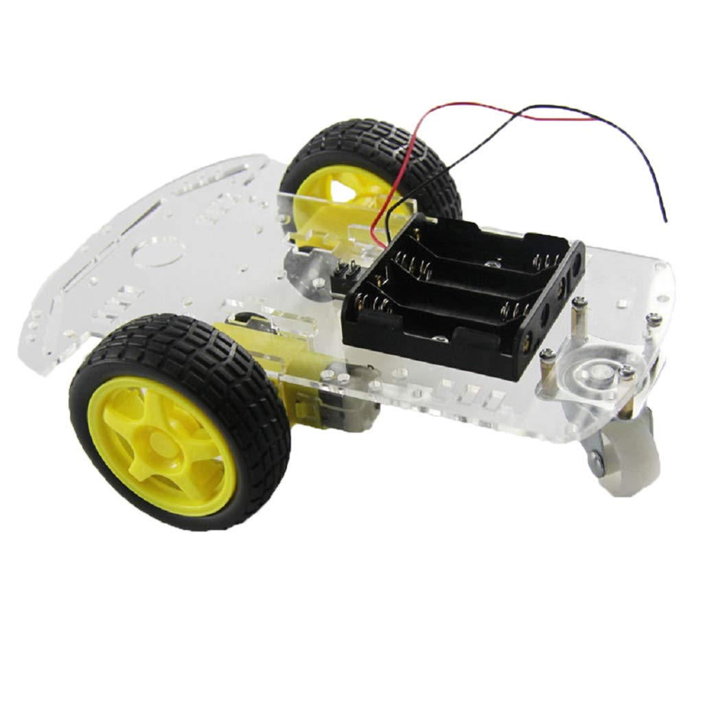 STEM Education Electronic Toys F Fityle 2WD Acrylic Smart Robot Car