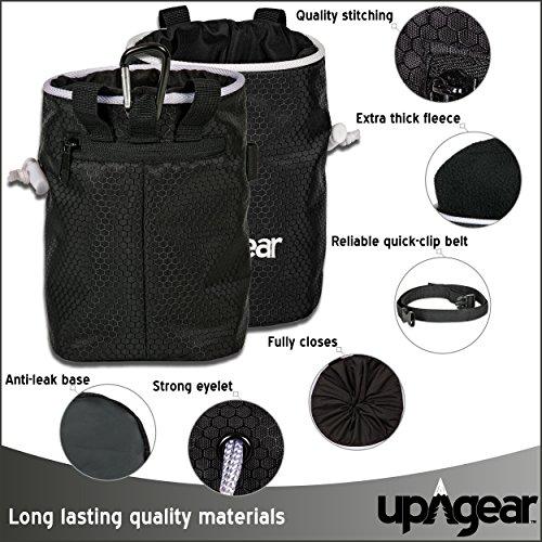 upAgear 4 in 1 Rock Climbing or Bouldering Chalk Bag set | - Import