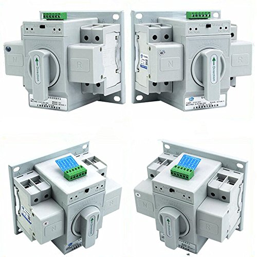 guangshun New Home Dual Power Automatic Transfer Switch 2P 63A 220V Toggle Switch Double Power Automatic Change-Over Switch by guangshun (Image #9)