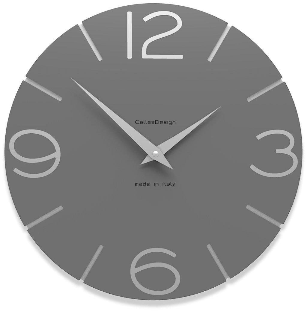 CalleaDesign 壁時計 Smile (灰色の水晶) B00ZC1X14Y 灰色の水晶 灰色の水晶