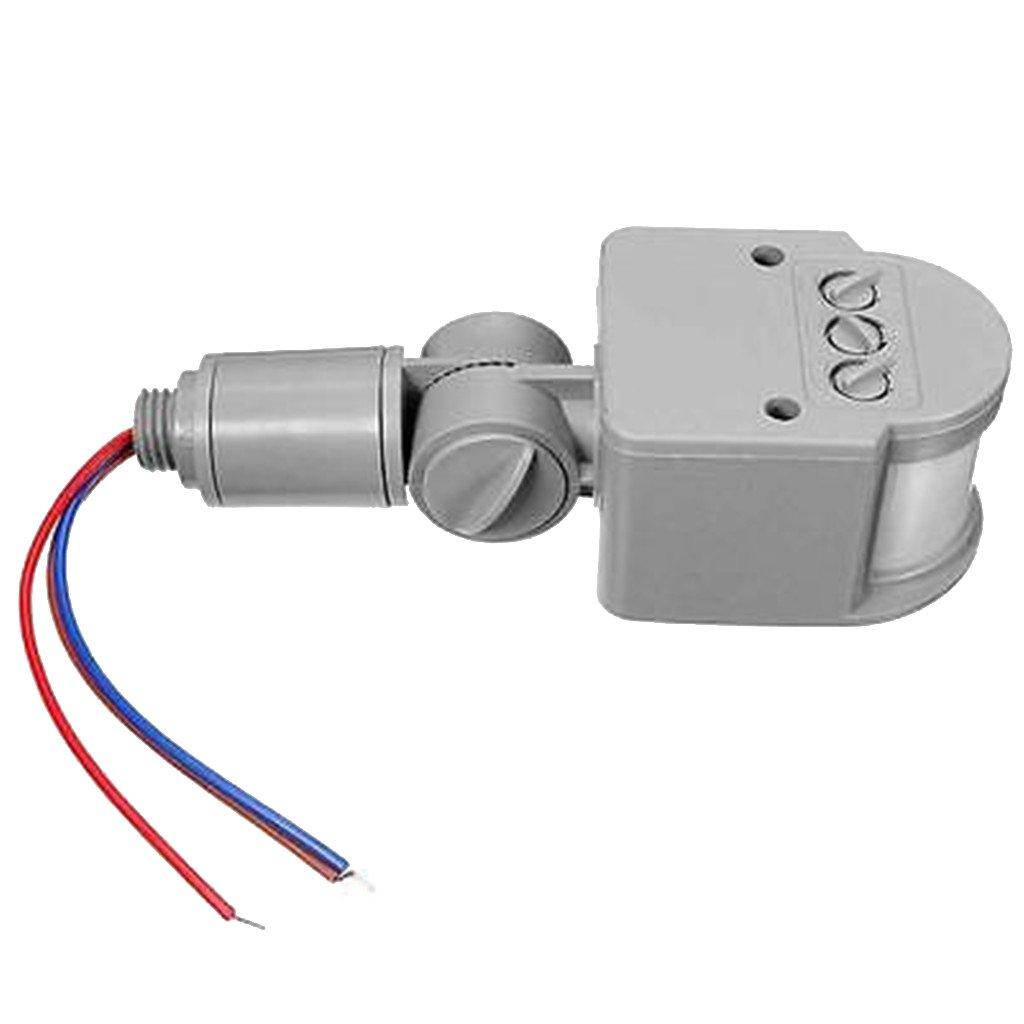 12m Pir Detector Sensor de Movimiento Infrarrojos Luz Al Aire Libre RF AC85V ~ 265V - Gris: Amazon.es: Bricolaje y herramientas