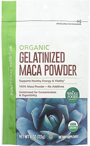 Whole Foods Market  Organic Gelatinized Maca Powder  4 Oz