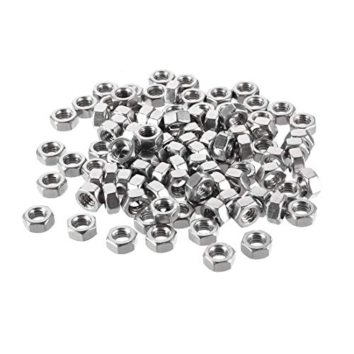 - uxcell Hex Nuts, M6x1mm Metric Coarse Thread Hexagon Nut, Stainless Steel 304, Pack of 100