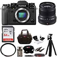 Fujifilm X-T2 Mirrorless Digital Camera (Body Only) w/50mmF2 R WR Lens + Focus 64GB Gadget Bag