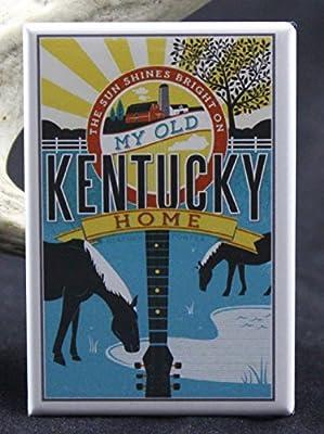 Kentucky Travel Poster Refrigerator Magnet.
