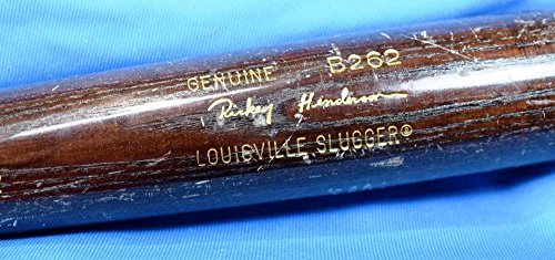 Rickey Henderson Bat - Rickey Henderson Coa Signed Game Used Louisville Slugger Bat Autograph - PSA/DNA Certified - MLB Autographed Game Used Bats