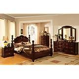 5 pc Tuscan II Dark Pine Finish Wood Queen Bedroom Set