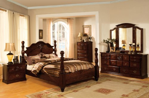 Great Deal! 5 pc Tuscan II Dark Pine Finish Wood Queen Bedroom Set