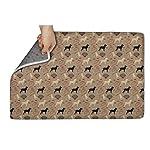 Unicorns Farting Non-Slip Indoor/Outdoor Doormat Border Collie Bone Dog Bathroom Rug Washable Super Cozy Velvet Floormat 6