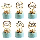 Whaline 6 Pack Happy Birthday Cake Topper Acrylic