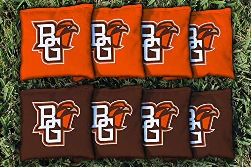 Victory Tailgate NCAA Collegiate Regulation Cornhole Game Bag Set (8 Bags Included, Corn-Filled) - Bowling Green State (Best Victory Tailgate Bowling Bags)