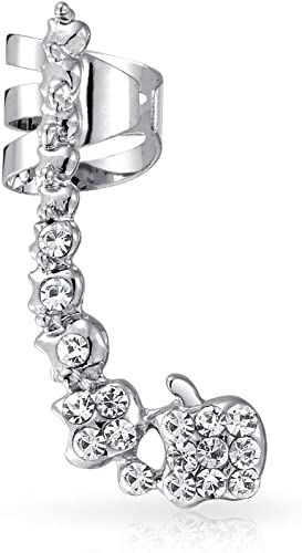 Unisex Punk Rock Ear Clip Cuff Wrap No piercing-Clip On Earring Jewelry   GQ
