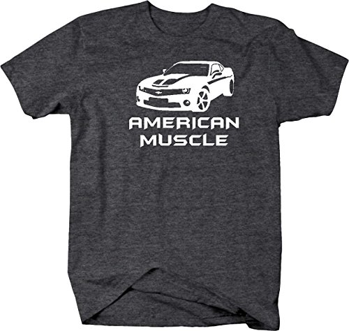 American Muscle Car Camaro SS Fast Furious Movie Parts Mens T Shirt - Xlarge