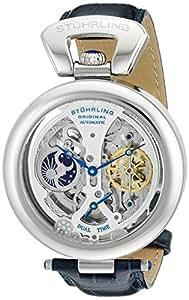 Stuhrling Original Men's 127A.3315C2 Emperor's Grandeur Analog Automatic Self Wind Blue Leather Watch
