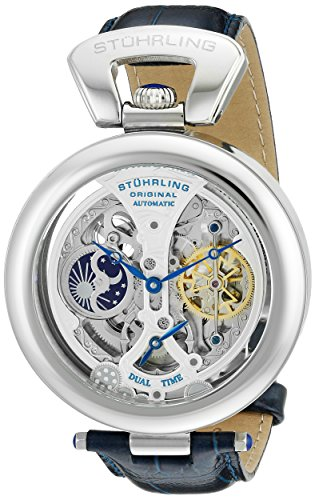 stuhrling-original-mens-127a3315c2-emperors-grandeur-analog-automatic-self-wind-blue-leather-watch
