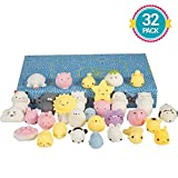 Lumiparty Mochi Squishy Toys 32pcs Mini Squishy Easter Egg Fillers Party Favors for Kids Kawaii Animal Squishies Squishy Stress Relief Toys Easter Toys Gifts for Girls & Boys
