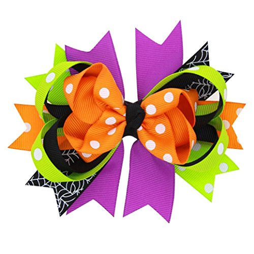 TRENDINAO Halloween Hair Bow Clip for Kids Baby Girls Toddlers