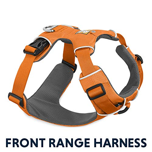 RUFFWEAR - Front Range, Everyday No Pull Dog Harness with Front Clip, Trail Running, Walking, Hiking, All-Day Wear, Orange Poppy (2017), - Australian Dog Fleece Cattle