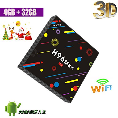 2018 TV Box, 4GB DDR4+32GB Yongf H96 Max Smart 4K TV Box And