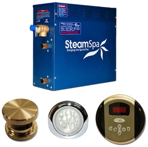 Steam Spa IN1200BNC Indulgence Complete Package with 12kW Steam Generator, Brushed Nickel - Kilowatt Steam Generator