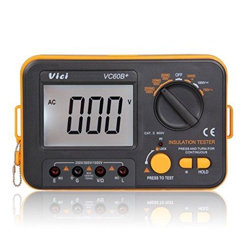 Digital MegOhm Meter Insulation Tester VC60B+ DCV ACV resistance