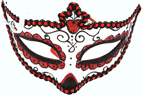 Day Of Dead Halloween Mask (Wicked Day The Dead Adult Halloween Masquerade Glitter Eyemask Fancy Dress)