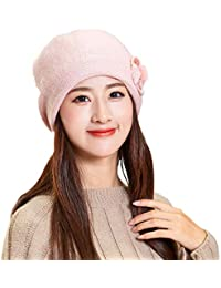 04b5599c1c4a3 Women Winter Warm Bow Cap Beret Braided Baggy Knit Crochet Beanie Hat Ski  Cap
