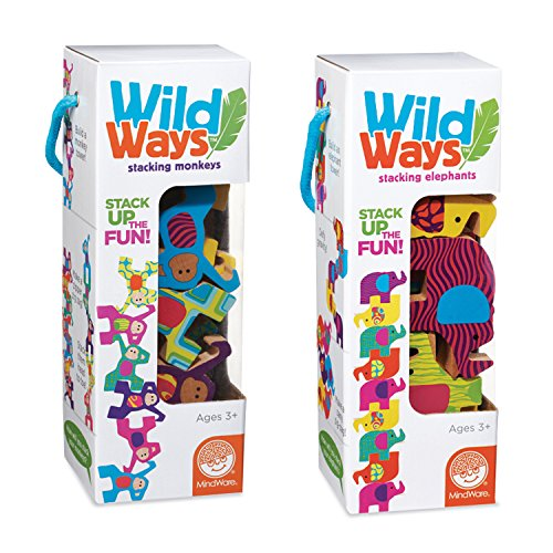 Wild Ways Stacking Wooden Animals: Set of 2