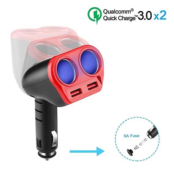 Amazon.com: Opluz - Cargador USB rápido dual de 2,4 A, QC ...
