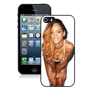New Unique DIY Antiskid Skin Case For Iphone 5S Rihanna (4) iPhone 5s Black Phone Case 377