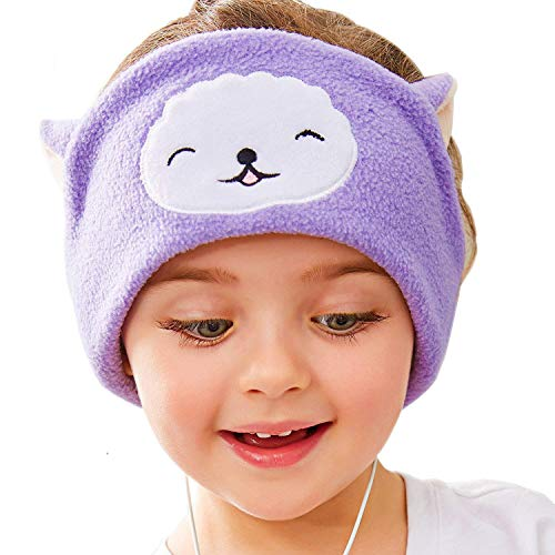 FIRIK Kids Headphones Volume Limited with Easy Adjustable Toddler Costume Silky Headband Headphones for Children, Perfect for Air Travel, Home and Christmas Birthday Gift - Llama ()