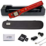 Vupoint ST470 Magic Wand Portable Scanner with Auto-Feed Docking Station + Hard Protective Travel Carrying Case + 8gb MicroSD Card - 1200dpi, PDF/JPEG, 1.5 LCD - for Photo, Document, Receipt (Red)