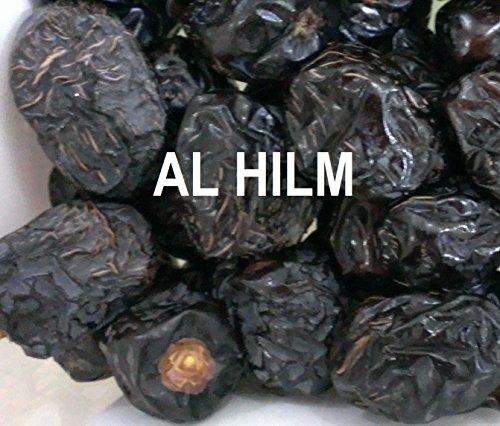 Premium Real AL AJWA DATES 16oz/ 1 Lb Madinah Munawwara Saudi Arabia Heart Healthy Calcium Rich Antioxidant Fiber Rich Snack Dry Fruit by Alhilm