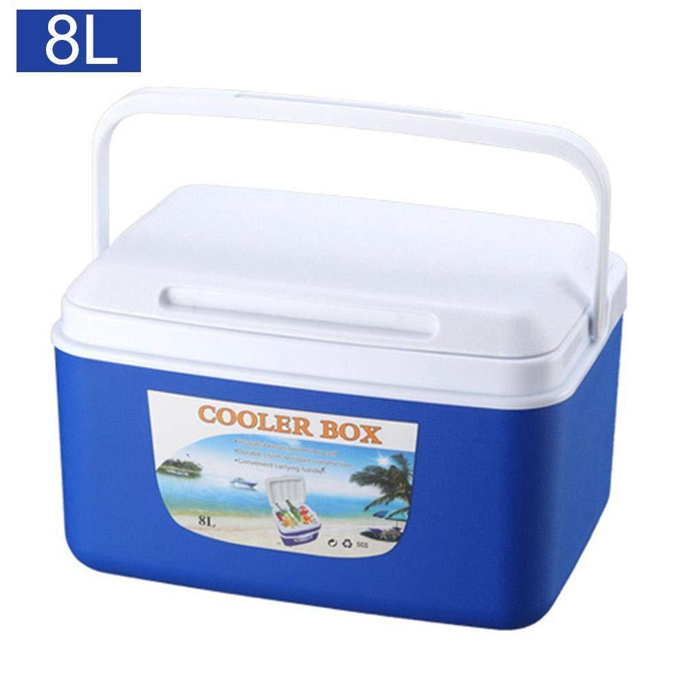 Bulary 8L Outdoor Incubator Freezer,Portable Insulated and Leak Food Storage Box Car Cold Box Fishing Box Cooler Box,Blue,Orange