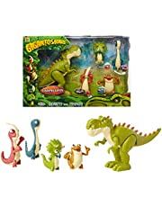 """Gigantosaurus Figures Giganto & Friends Toy Action Figures, Includes: Giganto, Mazu, Bill, Tiny & Rocky – Articulated Characters Range From 2.5-5.5"""" Tall"""