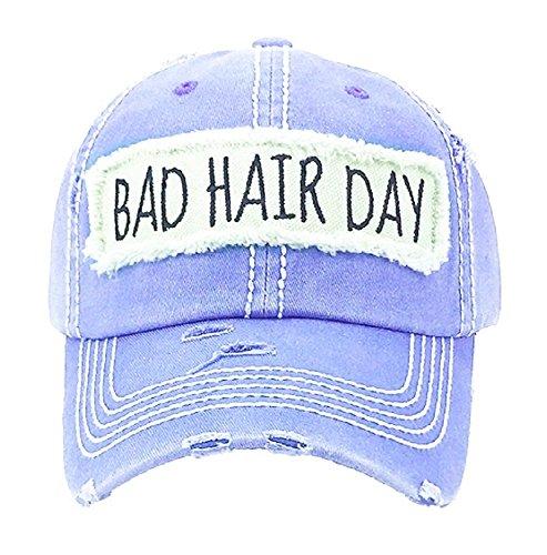 Day Womens Cap (AH Adjustable Bad Hair Day Distressed Look Western Cowgirl Hat Cap JP (Lavender Purple))