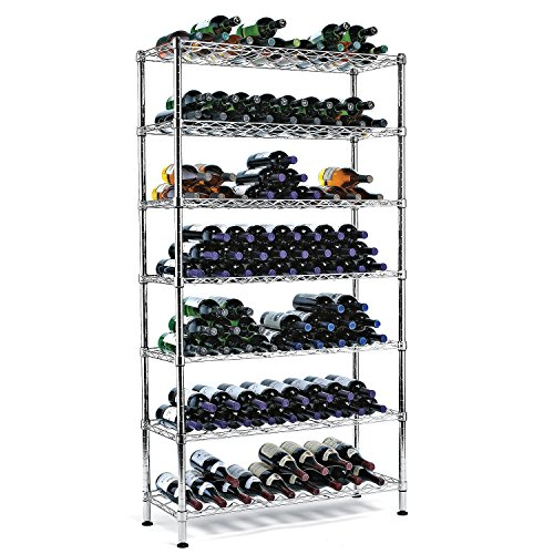 Wine Enthusiast 126 Bottles Steel Pantry Wine Rack ()
