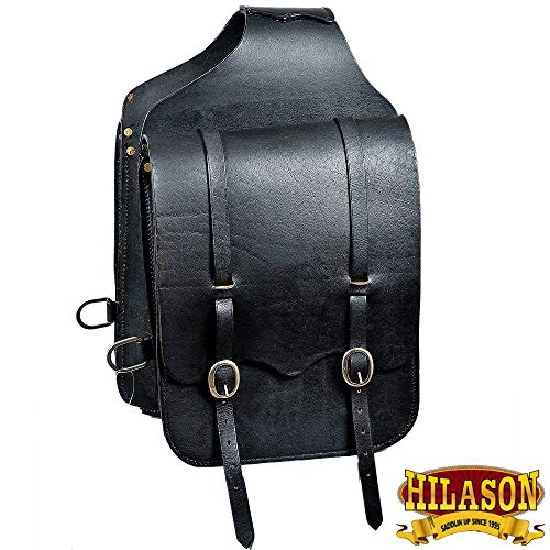 HILASON Western Horse Saddle Bag Heavy Duty Leather Cowboy Trail Ride