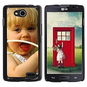 Be Good Phone Accessory // Dura Cáscara cubierta Protectora Caso Carcasa Funda de Protección para LG OPTIMUS L90 / D415 // Cute girl Smiling