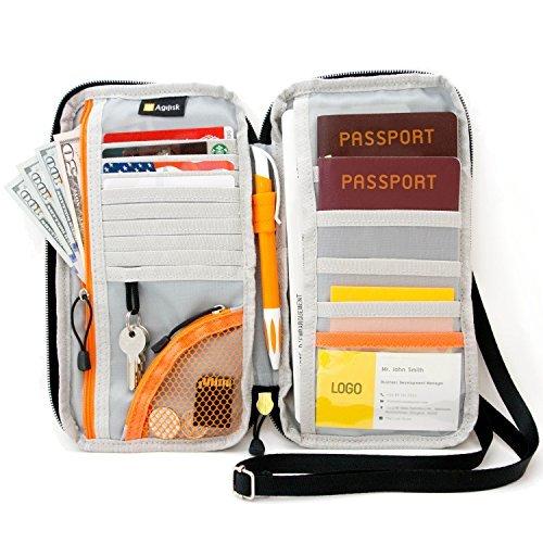 ¡Cartera de viaje y pasaportes con bloqueo de RFID por AGILISK ofrecen organizador familiar para crédito y tarjetas de...