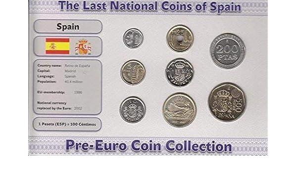 IMPACTO COLECCIONABLES Monedas PRE Euro de España - 8 Monedas Acuñadas Entre los años 1983 y 2001: Amazon.es: Juguetes y juegos